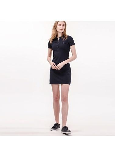 Lacoste Kısa Kollu Mini Elbise Lacivert